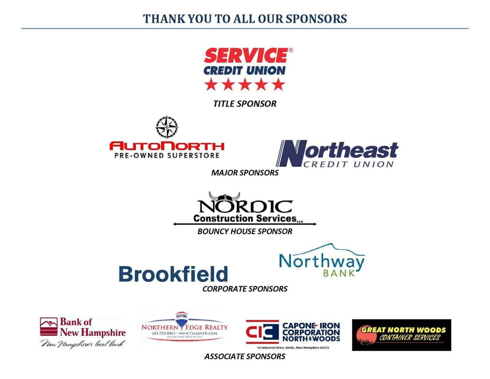 THANK YOU TO ALL OUR SPONSORS