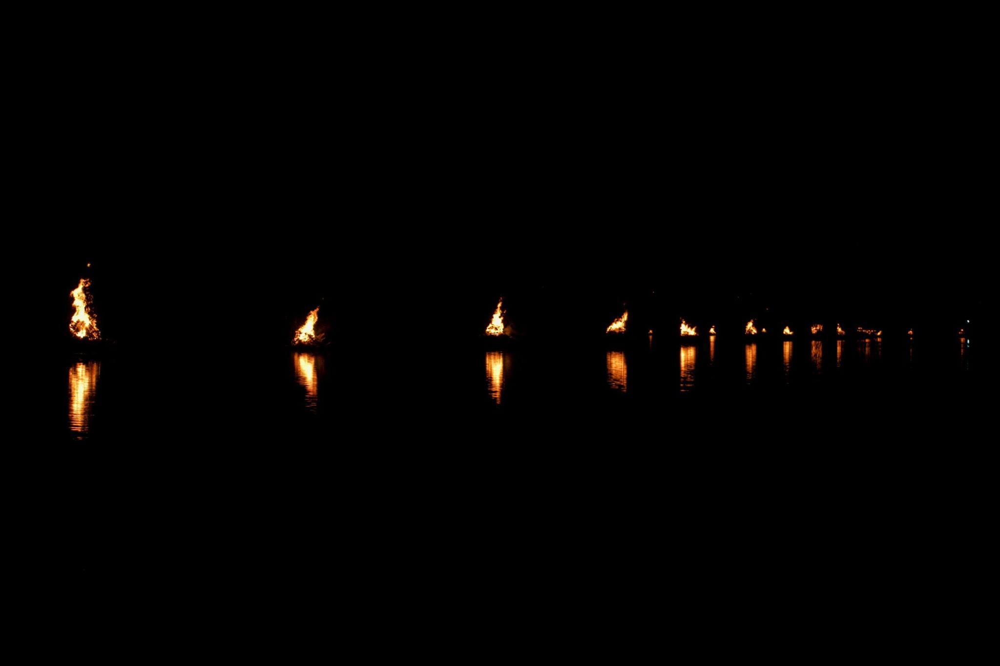 2017 RiverFire Boom Piers on Fire