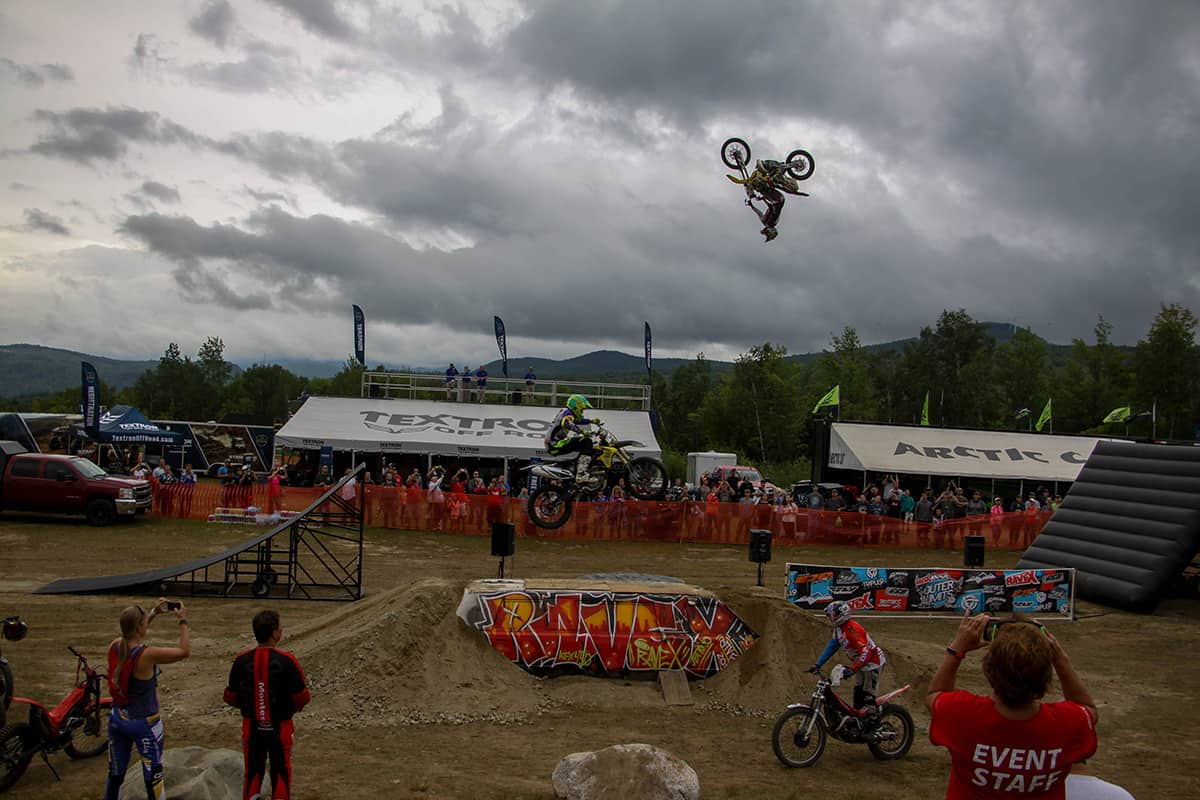 The freestyle show is quite the spectacle at the Jericho ATV Festival