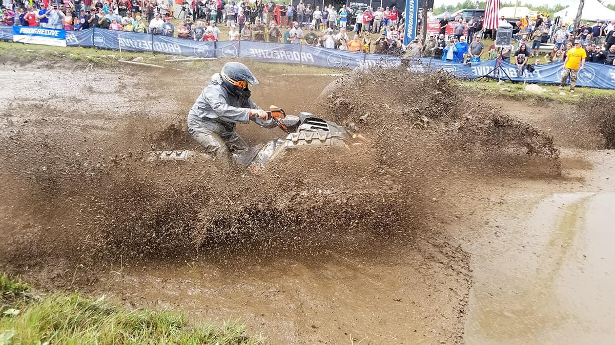 Splashing in the mudpit at the Jericho ATV Festival