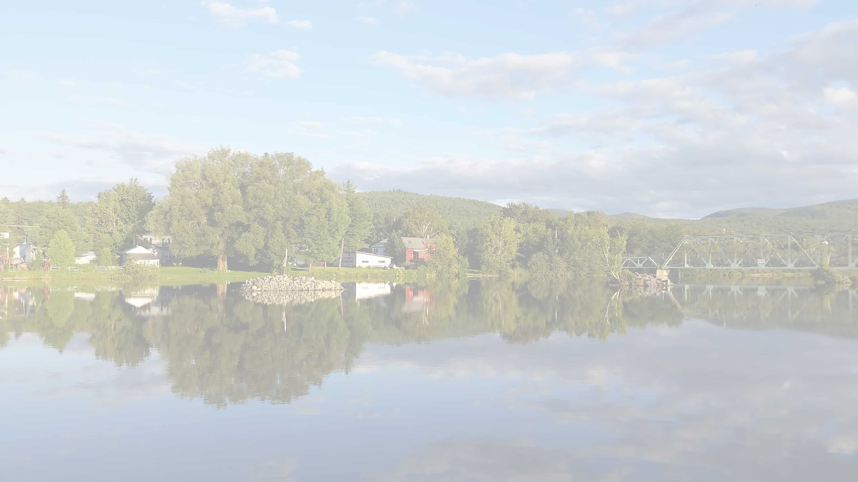 The Androscoggin River during summer
